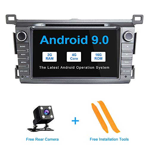 ZLTOOPAI Android 9.0 Auto Radio 8 Inch Multi-touch Scherm Auto Stereo GPS Navigatie Auto Media Player Dubbele Din Hoofd Unit voor Toyota RAV4 2013-2015 Ondersteuning Screen Mirror WiFi Volledige RCA Output SWC