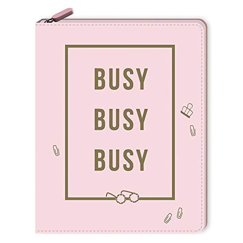 Notizbuch mit Reißverschluss - Busy, busy, busy (monbijou)
