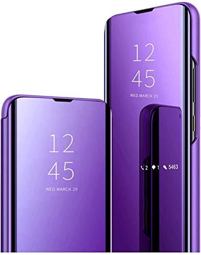XQ-HD Compatible con iPhone 6 Plus Funda, Funda para teléfono móvil Mirror Make-Up para niñas, 360° Carcasa antichoque PC Trasera, Funda Clear View Standing para iPhone 6 Plus.