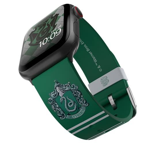 Harry Potter - Correa para reloj inteligente Slytherin - Licencia oficial, compatible con Apple Watch (no incluido) - Se adapta a 38 mm, 40 mm, 42 mm y 44 mm