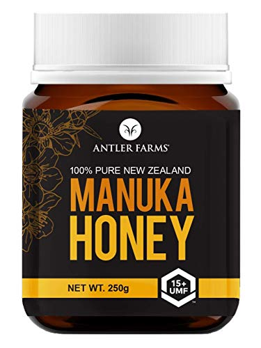 Antler Farms - 100% Pure New Zealand Manuka Honey, UMF 15+/MGO 500+, 250g – Certified Authentic, Raw and Wild, No Fillers, No Additives and non-GMO