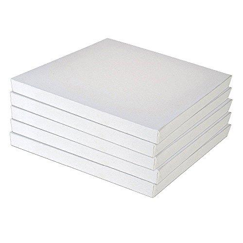 Lienzo multitamaño blanco con doble imprimación preestirado para pintura acrílica al óleo 40x50cm*5Pcs
