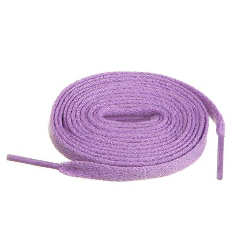 BIRCH's Shoelaces in 27 Colors Flat 5/16' Shoe Laces in 4 Different Lengths (45.5' (115cm), Lavender)