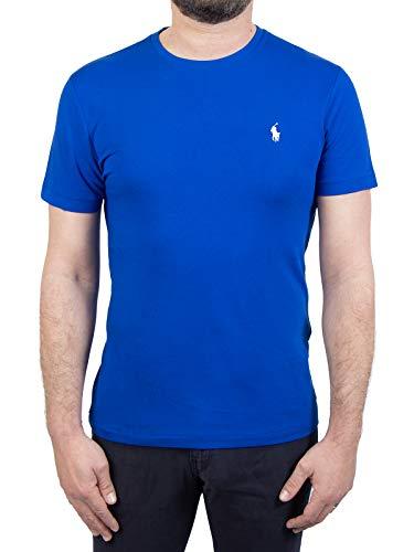 Photo of Polo Ralph Lauren Mod. 710671438 T-Shirt Crew Neck Short Sleeves Custom Slim Fit Man Blue L