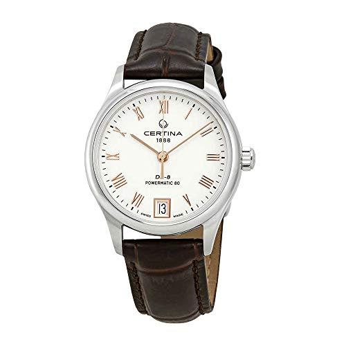 Certina DS-8 - Reloj de pulsera automático con esfera blanca para mujer C033.207.16.013