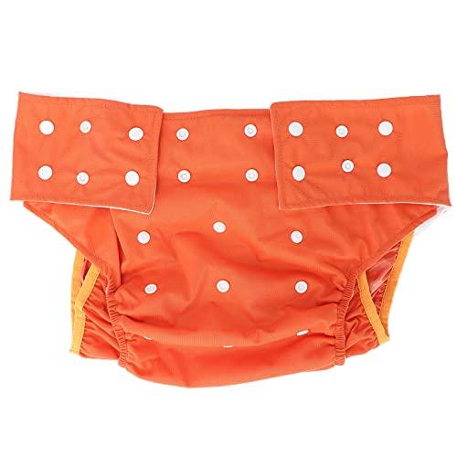 Pañal de tela impermeable para adultos, ajustable, lavable, para ancianos, con doble apertura, bolsillo, sin fugas, para incontinencia, fundas para pañales para ancianos y discapacitados