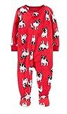 Carter's 1-Piece French Bulldog Fleece Footie Pajamas 12 Months Red