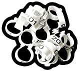 """Chicken Leg Rings - 20 Numbered Tag Markers for ADULT Birds 