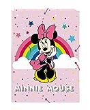 safta Carpeta Folio con 3 Solapas de Minnie Mouse Rainbow, 260x365mm