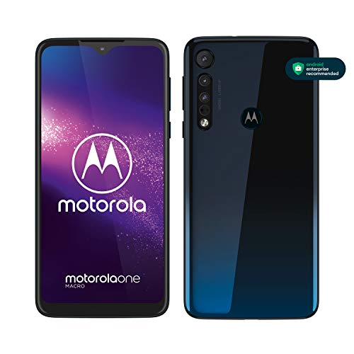 "Motorola One Macro (6,2"" HD+ display, Macro vision camera, 64GB/ 4GB, Android 9.0, dual SIM smartphone), Space Blue"