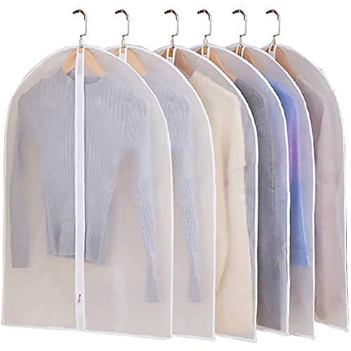 JIESMART Lightweight Transparent Dress Bags clothes Covers Long Hanging...