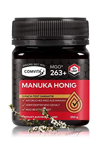 Comvita Manuka Honig 263+ MGO (UMF™ 10+) – 250 gr Manuka-Honig – Das Original aus Neusseland – Mit zertifizierten Methylglyoxal Gehalt