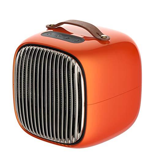 Xbeast Heizgebläse Mini Electric Blower Space Heater mit 3-stufiger Temperatureinstellung (Orange)