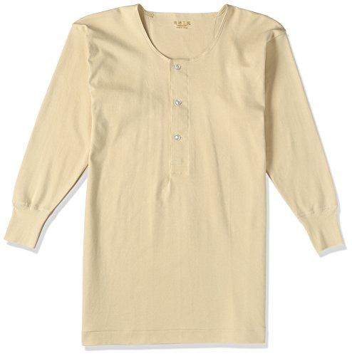 [グンゼ] インナーシャツ 快適工房 年間 綿100% 長袖釦付シャツ KH25028 メンズ ラクダ 日本L (日本サイズL相当)