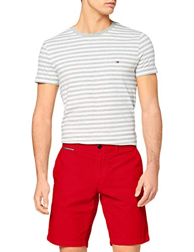 Tommy Hilfiger Brooklyn Short Light Twill Jean Baggy, Rouge (Primary Red), W33/L30 (Taille Fabricant:) Homme