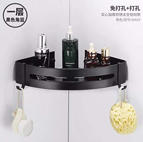 RUK Baño Cocina Perforado Esquinero Estante de Ducha Estante de Almacenamiento de champú No Molestar Accesorios de baño
