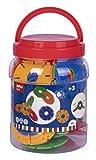 Bote Discos Circulares Conectores diámetro 77mm Colores APLI Kids 18214