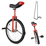Triclicks 20 Monociclo+Soporte,Monociclo Entrenador para Chicos/Adultos Balance Ciclism Ejercicio Bicicletas Monociclo Bicicleta de Una Rueda Monorrueda Altura Ajustable Unicycle