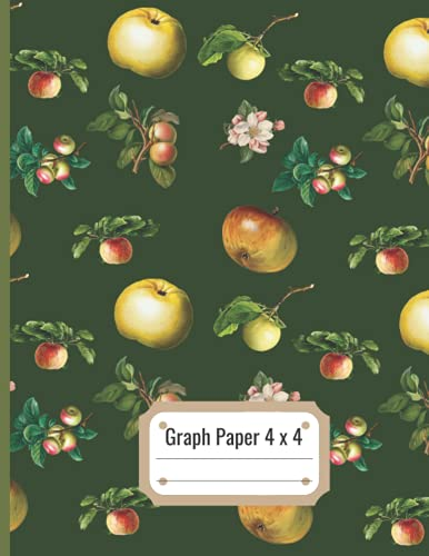 Graph Paper Composition Notebook: Quad Ruled 4 x 4 Squares per inch,...