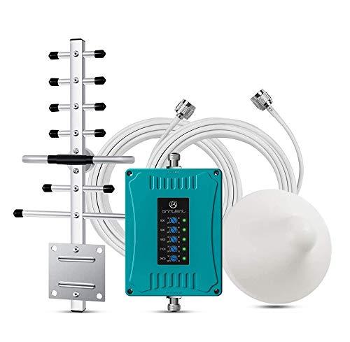ANNTLENT Amplificador de Señal de Teléfono Celular para Hogar y Oficina Kits de Repetidor Móvil Aumenta la Voz y los Datos 3G 4G LTE para Todos los operadoras,con Certificado CE