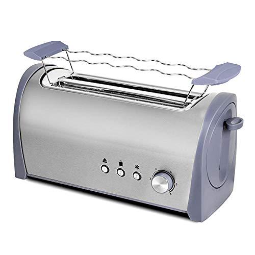 Stahl Toaster 2L Bräunungskontrolle Super großer Multifunktions-Toaster mit Temperaturregelung und beweglicher Paniermehlschale