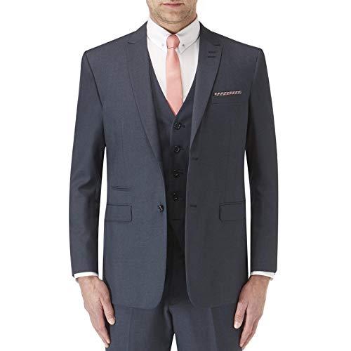 Skopes Mens Sharpe Big Tall Single Breasted op maat gemaakte fit pak jas - blauw