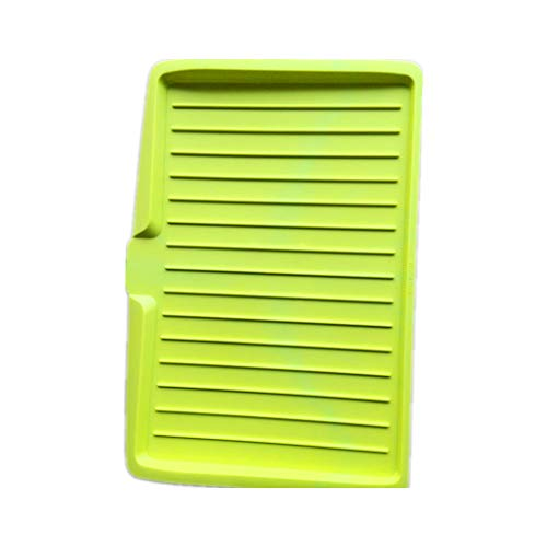 rongweiwang Kitchen Plastic Dish Drainer Tray Large Sink Drying dish dry tray large organizer kitchen plastic dish Rack Storage Rack Organizer Kitchenware, Green