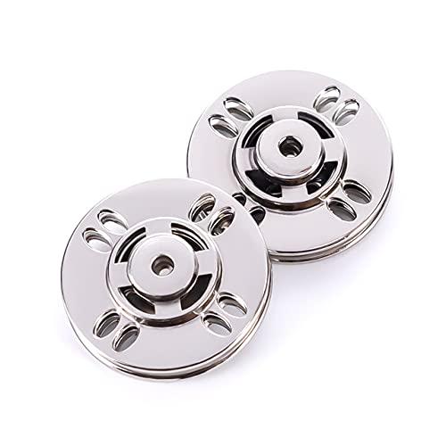 Opnaaibare drukknoop Metalen drukknoop Drukknop voor DIY Craft Naaien Kleding Toepasselijke jas pak overhemd 10-25 MM-8-gaats helder zilver, 18 MM 6 stuks