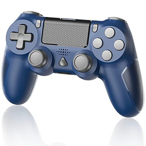 Manette sans Fil pour PS4 Manette Gamepad pour PS4/ PS4 Slim/ PS4 Pro Console avec Double Vibration Moteur, Bleu