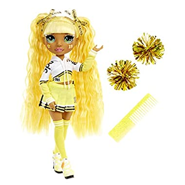 Rainbow High Cheer Sunny Madison – Yellow Cheerleader Fashion Doll with Pom Poms and Doll Accessories, Great Gift for…
