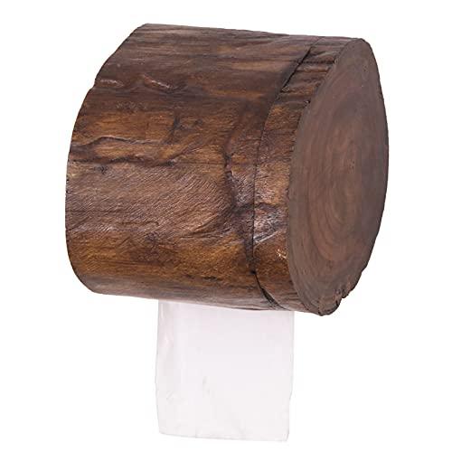 GYing Tailandesa de Madera sólida Caja de Tejido al Sureste Estilo asiático baño Pared Colgando Rollo Papel Caja de baño Registro Retro Papel Toalla Tubo
