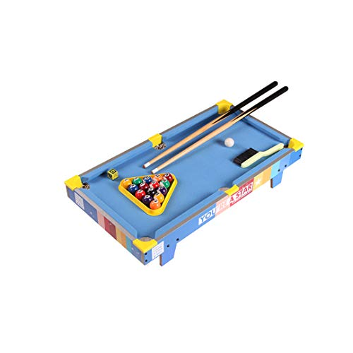 XXHDEE Large American Family Pool Table Small Standard Fancy Wooden Billiard Table Children's Board Game Toys, 69.5x37x13.5cm Toy Gift