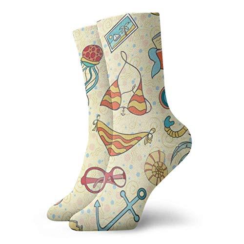 Calcetín corto adulto verano playa zapatillas bikini algodón unisex calcetines clásicos para hombre mujer correr fitness deportes 30 cm