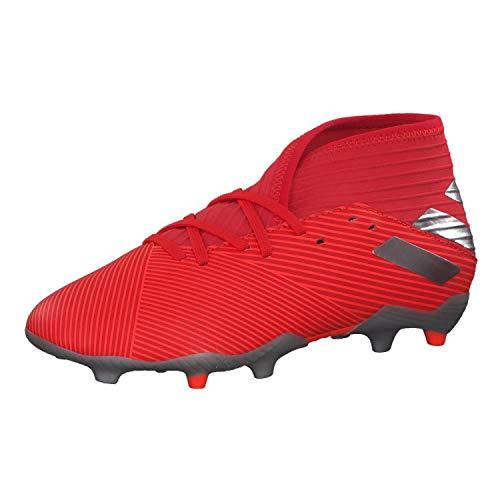 adidas Performance Nemeziz 19.3 FG Fußballschuh Kinder rot/Silber, 38 EU - 5 UK - 5.5 US