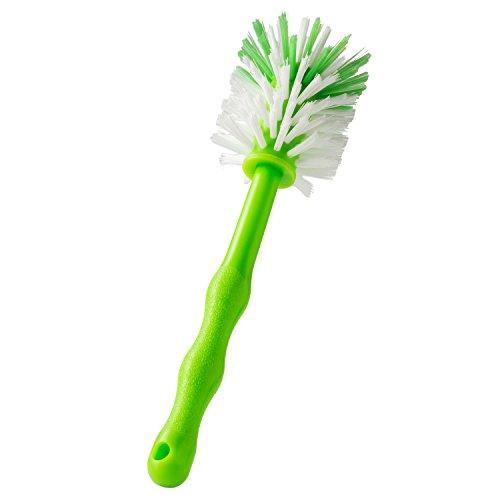 Wundermix Mixtopf-Spülbürste Thermomix, robuste Reinigungs-Bürste Thermomix, Spülbürste zum Aufhängen mit schonenden Nylon-Borsten (1 Stück, grün)