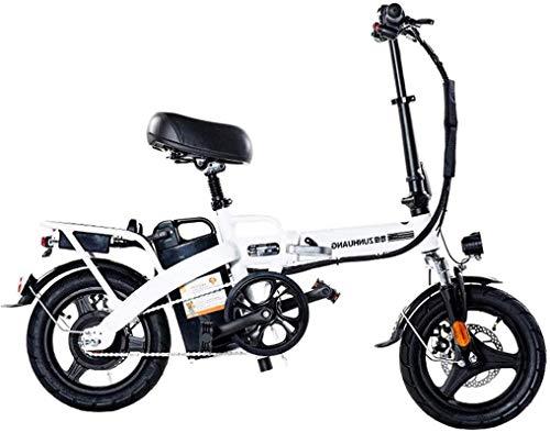 Bicicleta Eléctrica Plegable Bicicleta eléctrica de nieve, bicicletas eléctricas plegables para adultos, bicicletas, bicicletas, bicicletas, bicicletas reclinadas, de 14 pulgadas, la batería de litio