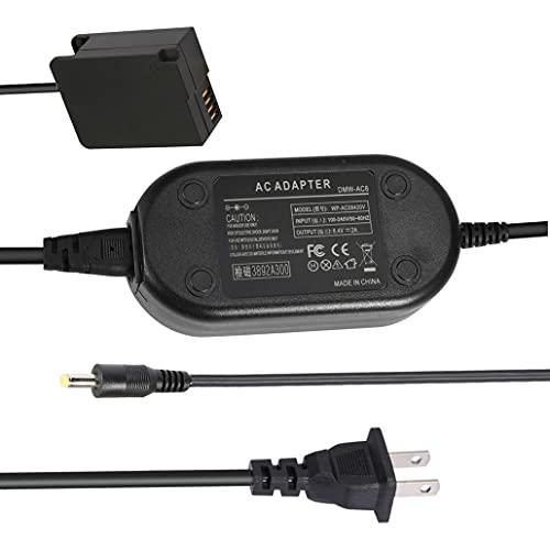 DMW-AC8 DMW-DCC8 AC Power Adapter Replacement of DMW-BLC12 Dummy Battery DC Coupler kit Charger Supply for Panasonic DMC-FZ2500 FZ1000 FZ200 FZ300 DMC-G6 G7 G85 Lumix DC-G90 G95 Cameras