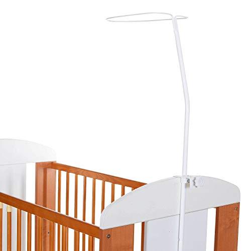 Himmelstange Universal Himmelhalter für Babybett Kinderbett mit Klemmen