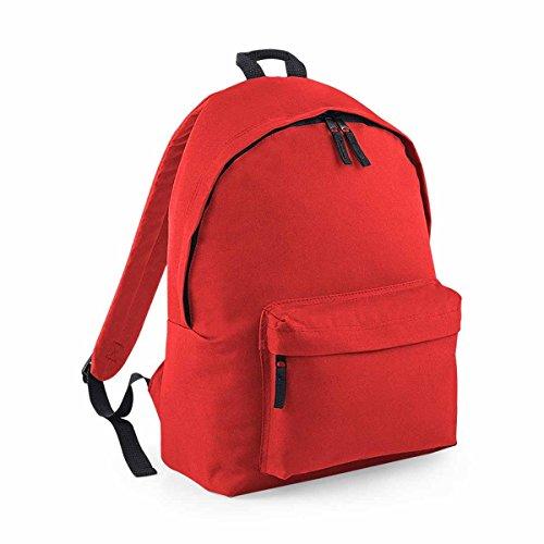 BagBase Unisex's B125JBRED Fashion Backpack, Bright Red, Medium
