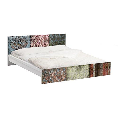 Apalis Möbelfolie für IKEA Malm Bett niedrig 180x200cm Klebefolie Old Patterns 77x197cm
