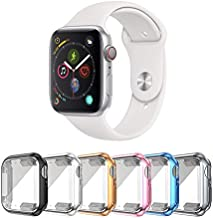 SLYEN 6 Pack Apple Watch Case with Ultra-Thin Screen Protector Compatible with iWatch 44mm,Full Coverage Case for Apple Watch (42mm)