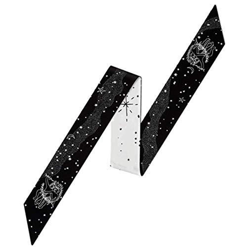 Damen Zwölf Constellation Bedruckte Band Mode Schal, Imitation Seidenschal