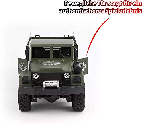 RC Auto kaufen Crawler Bild 5: HSP Himoto 2.4GHz RC Ferngesteuerter 6WD Off-Road Militär Army Truck Crawler Fahrzeug Transporter, Komplett-Set RTF*