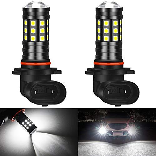 KATUR Bombillas de luz antiniebla LED H10 3030 Chips superbrillantes 2700 lúmenes para Luces de conducción Diurna DRL o Luces antiniebla, 6500K xenón Blanco (Paquete de 2)