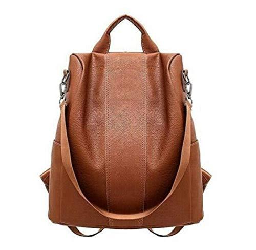 Bolso mochila mujer antirrobo. Casual. Color marrón. Polipiel. Entrega en 1 día.