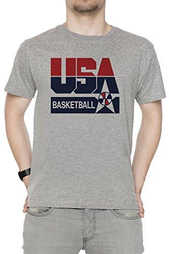 USA Basketball 1992 Dream Team Hombre Camiseta Cuello Redondo Gris Manga Corta Tamaño XXL Men's Grey XX-Large Size XXL
