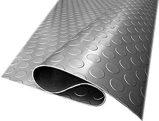 Herco 4' x 2' Raised Radial Coin Dot Vinyl Flooring Mat - Grey