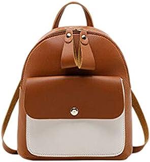 TOOGOO Women Girls School Bag Pu Leather Backpack Backpack Purse Travel Handbag,Black
