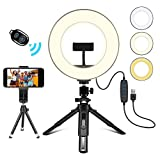 """Creatck 8"""" LED Ring Light with Tripod Stand, Dimmable 3 Light Modes"""