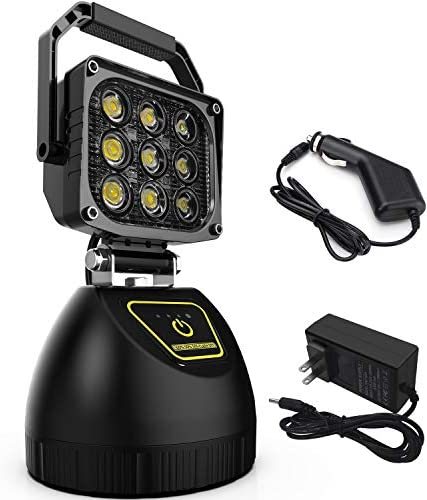 LED Work Light WEISIJI 45W Protable Rechargeable Light with Magnetic Base for Construction Site product image
